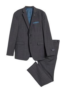 Original Penguin Charcoal Solid Two Button Notch Lapel Suit