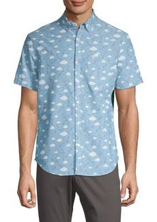 Original Penguin Cloud-Print Short-Sleeve Shirt