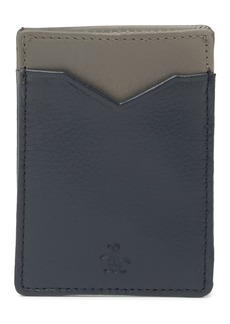 Original Penguin Colorblock Leather Card Case