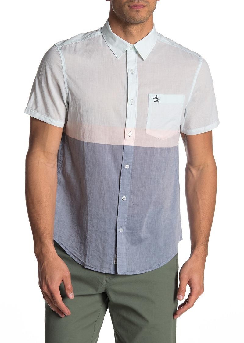 Original Penguin Colorblock Heritage Slim Fit Shirt