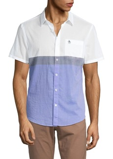 Original Penguin Colorblock Surf Short Sleeve Sport Shirt