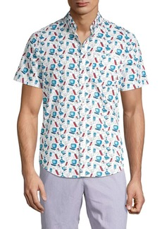 Original Penguin Computer Print Short Sleeve Shirt