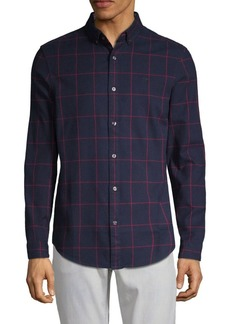 Original Penguin Crepe Windowpane Slim-Fit Button-Down Shirt