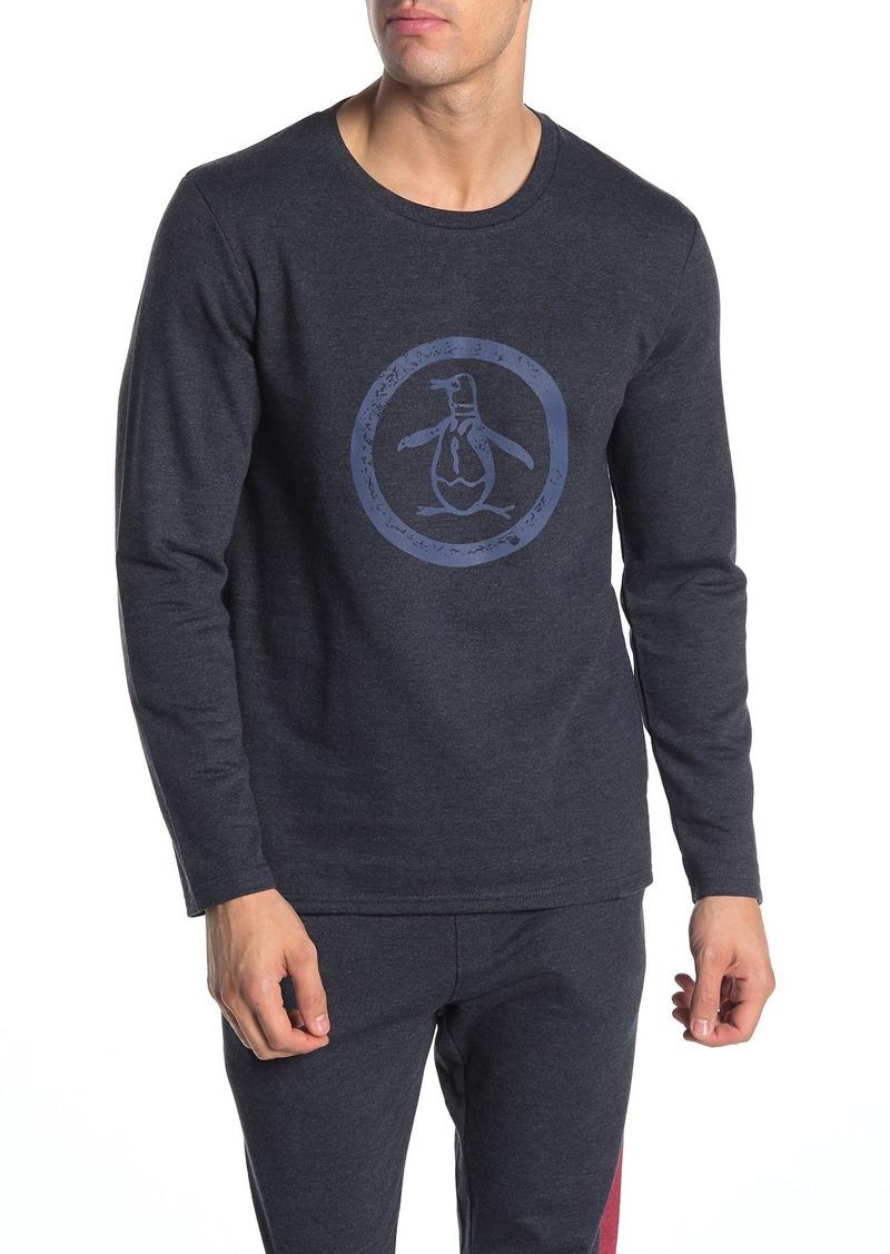 Original Penguin Crew Neck Long Sleeve Pajama Top