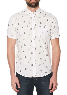 Original Penguin Dad Activity Print Woven Shirt