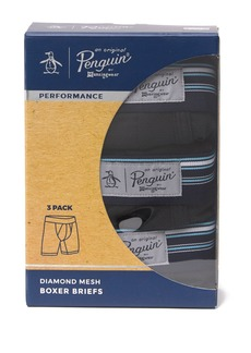 Original Penguin Diamond Performance Boxer Briefs - Pack of 3