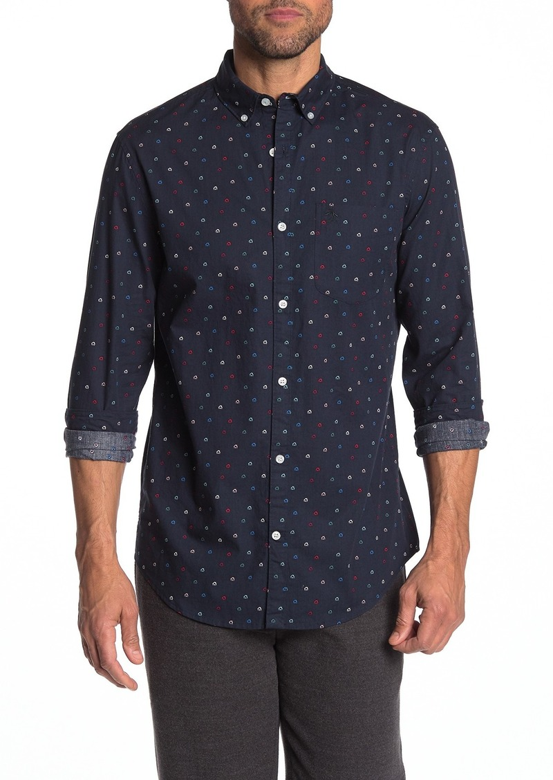 Original Penguin Ditsy House Long Sleeve Slim Fit Shirt