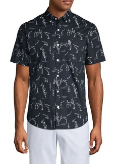 Original Penguin Diver-Print Short-Sleeve Shirt