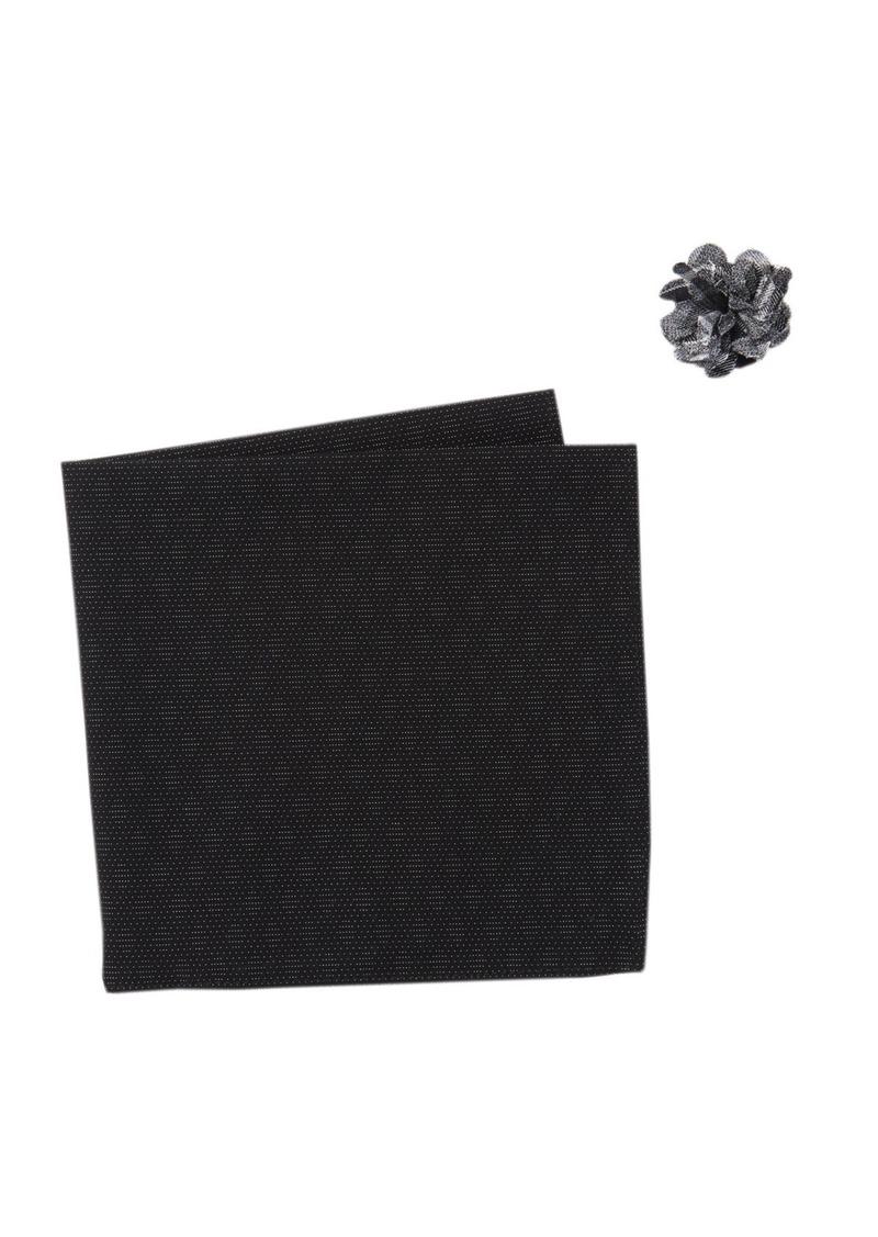 Original Penguin Dressy Dot Pocket Square & Lapel Pin Set