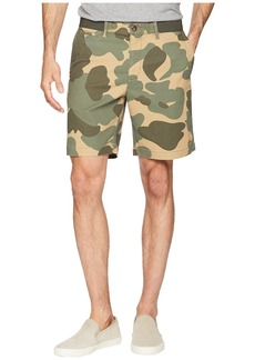 "Original Penguin Elasticated Waistband Camo Print 8"" Slim Fit w/ Stretch Shorts"