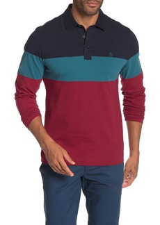 Original Penguin Engineered Colorblock Stripe Polo