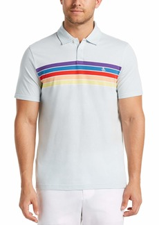 Original Penguin Engineered Rainbow Stripe Short Sleeve Polo Shirt