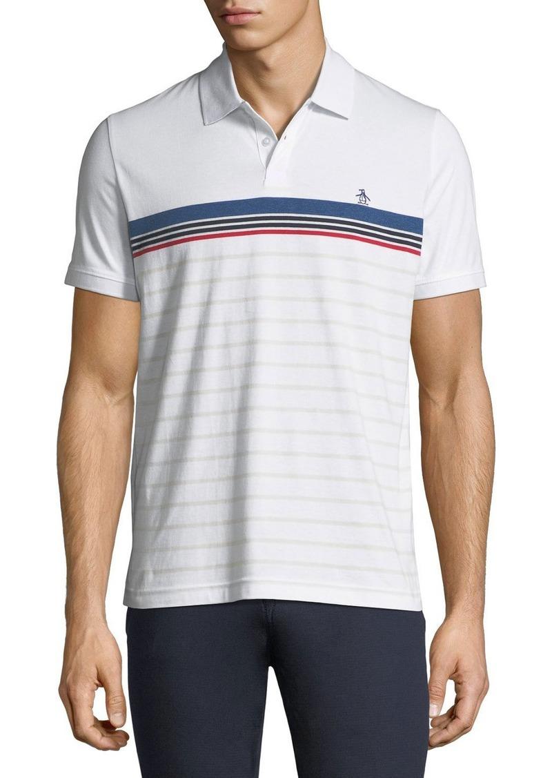 Original Penguin Engineered-Stripe Jersey Polo Shirt