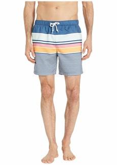 Original Penguin Engineered Stripe Non-Stretch Swim Shorts