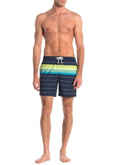 Original Penguin Engineered Stripe Print Trunks