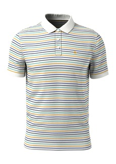 Original Penguin Fine Stripe Short Sleeve Polo Shirt