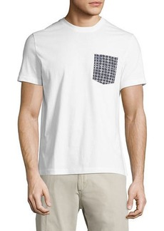 Original Penguin Floral-Grid Pocket Tee