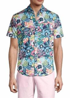 Original Penguin Floral-Print Short-Sleeve Shirt
