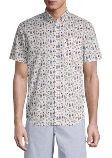 Original Penguin Fruit-Print Short-Sleeve Shirt