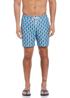 Original Penguin Geometric Print Men's Swim Short