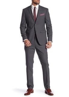 Original Penguin Gray Checked Two Button Notch Lapel Suit