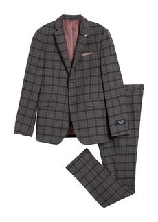 Original Penguin Grey Plaid Two Button Notch Lapel Suit