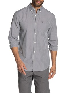 Original Penguin Hairline Stripe Print Slim Fit Shirt