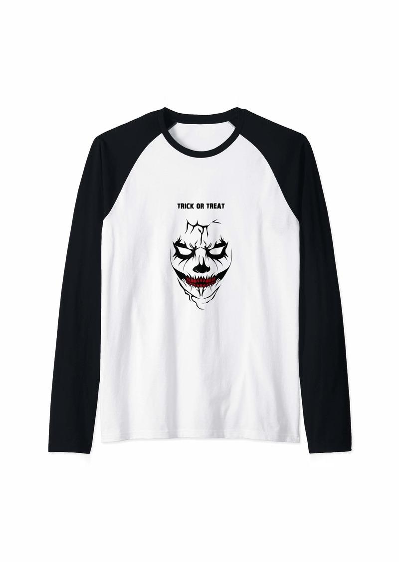 Original Penguin Halloween celebration Trick or Treat scary face  Raglan Baseball Tee