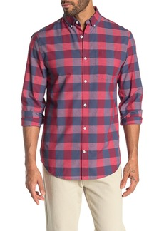 Original Penguin Heathered Plaid Print Slim Fit Shirt