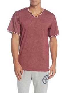 Original Penguin Heathered V-Neck Short Sleeve Sleep Shirt