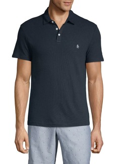 Original Penguin Heritage Slim-Fit Linen & Cotton Blend Polo