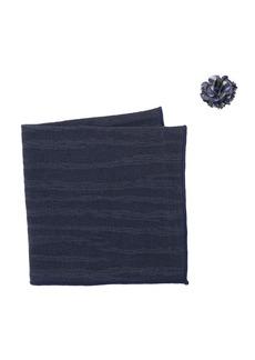 Original Penguin Himmel Solid Pocket Square & Lapel Pin Set