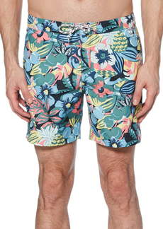Original Penguin Jungle Print Volley Swim Trunks
