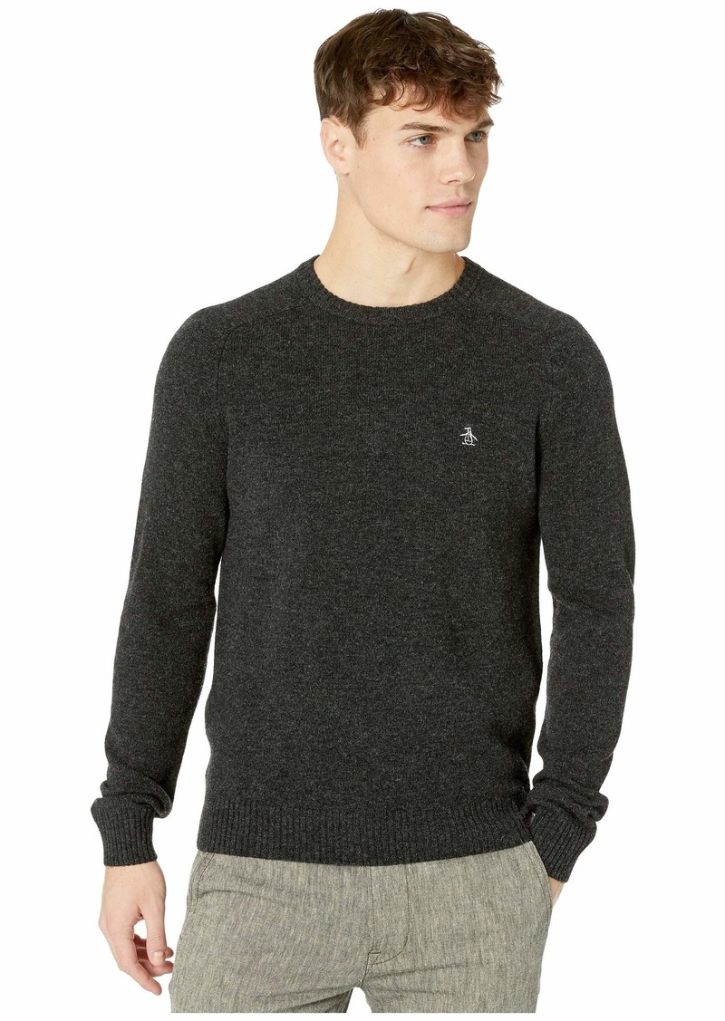 Original Penguin Lambswool Crew Neck Long Sleeve Sweater