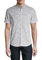 Original Penguin Linen & Cotton Leaf-Print Shirt