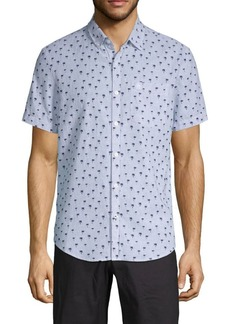 Original Penguin Linen & Cotton Print Short-Sleeve Shirt