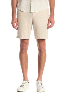 Original Penguin Linen Blend Solid Straight Shorts
