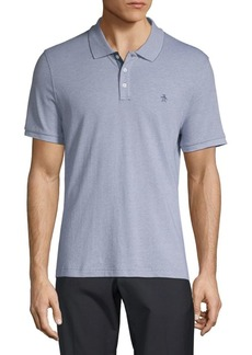 Original Penguin Logo Textured Cotton Polo