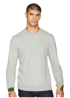 Original Penguin Long Sleeve Camo Cuff Crew Neck Sweatshirt
