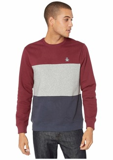 Original Penguin Long Sleeve Color Block Fleece Crew