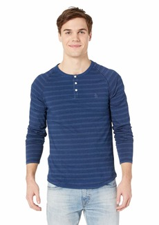 Original Penguin Long Sleeve Dash Stripe Henley