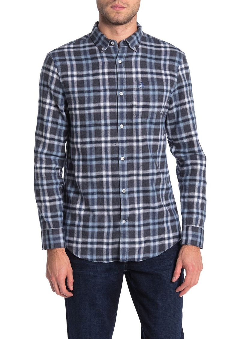 Original Penguin Long Sleeve Heathered Flannel Shirt