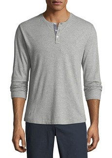 Original Penguin Long-Sleeve Heathered Jacquard Henley