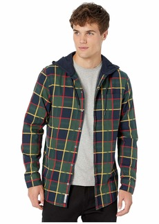 Original Penguin Long Sleeve Plaid Flannel Hoodie