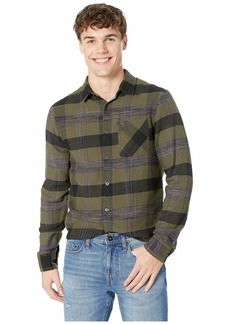 Original Penguin Long Sleeve Space Dye Woven Flannel - Non-Stretch Shirt