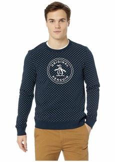 Original Penguin Long Sleeve Star Printed Logo Crew