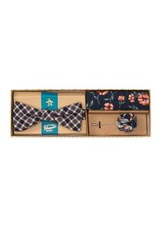 Original Penguin Lyman Check 3-Piece Bow Tie Set