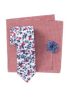 Original Penguin Mahan Floral Tie, Pocket Square & Lapel Pin Set