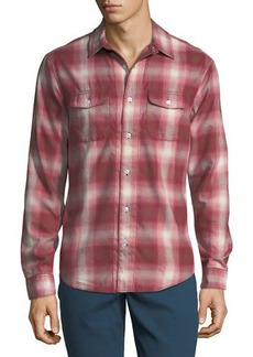 Original Penguin Men's 90S Ombre Plaid Button-Down Shirt