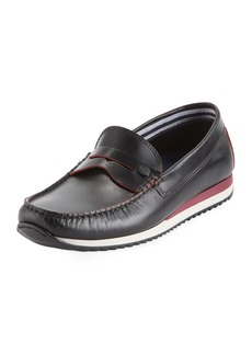 Original Penguin Men's Adrian Striped Slip-on Penny Loafer